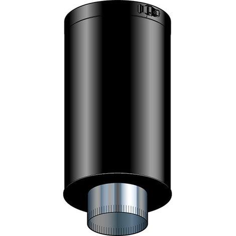 Elément droit de finition plafond THERMINOX - Diamètre 150/150 - Hauteur 45 cm - Noir