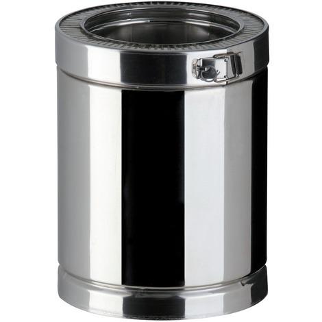 Elément droit Therminox TI pour l'intérieur et l'extérieur des bâtiments - Diamètre 150 - Lg 45 cm