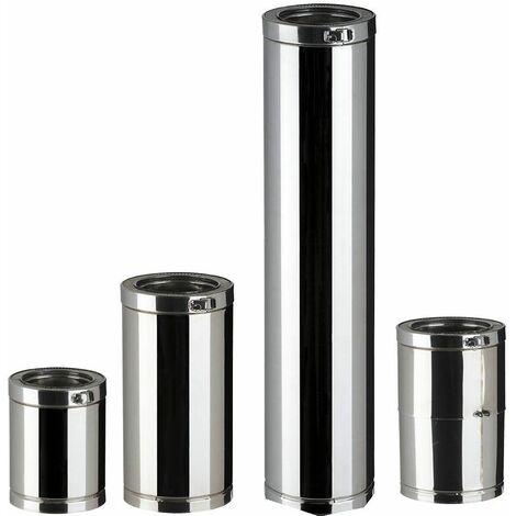 Elément droit Therminox TI pour l'intérieur et l'extérieur des bâtiments - Elément droit réglable - diamètre 150 - Lg 35 à 45 cm