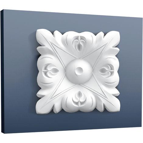 Elément du coin Décoration de stuc Orac Decor P21 LUXXUS Plaque du coin carré Elément décoratif pour le mur 6 x 6 cm