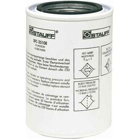 Element filtrant Spin-on Materiel filtrant : papier fibre de verre 10 my / DM 128 x L 180 mm