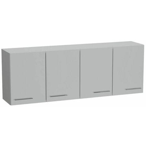 Elément meuble pont 4 portes SMART largeur 170 cm coloris blanc mat - blanc