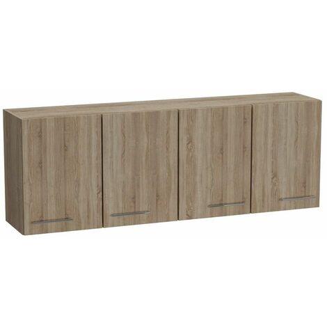 Elément meuble pont 4 portes SMART largeur 170 cm coloris chêne - natural