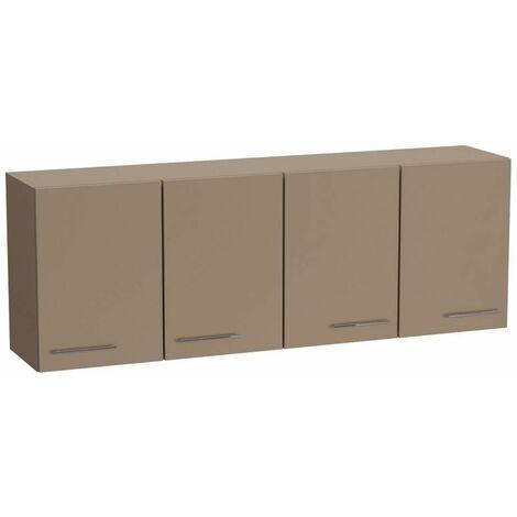 Elément meuble pont 4 portes SMART largeur 170 cm coloris taupe mat - taupe