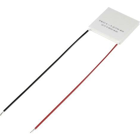 Elément Peltier TRU COMPONENTS TEC1-127040 1389166 15.4 V/DC 4 A 33.4 W (L x l x H) 40 x 40 x 3.9 mm 1 pc(s)