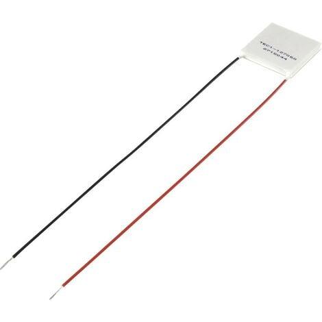 Elément Peltier TRU COMPONENTS TEC1-127060 1389160 15.4 V/DC 6 A 51.4 W (L x l x H) 40 x 40 x 3.6 mm 1 pc(s)