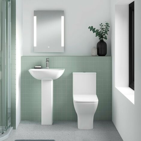 Element Rimless Close Coupled Pan, Cistern & Soft Close Seat