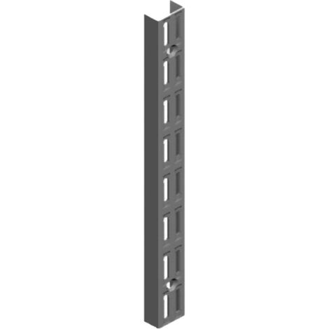 Element System 32 Wandschiene 2-reihig H 220 schwarz