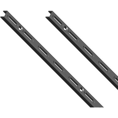 Element System 50 SB Wandschiene 1-reihig H 2000 schwarz