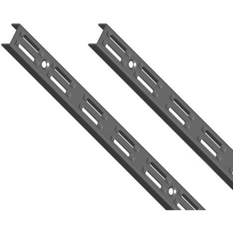 Element System 50 SB Wandschiene 2-reihig H 1500 schwarz 1 Paar