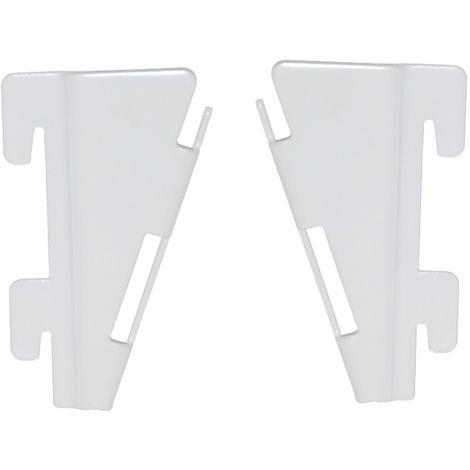 Element System Adapter für Faltfachboden 2 Paar weiß