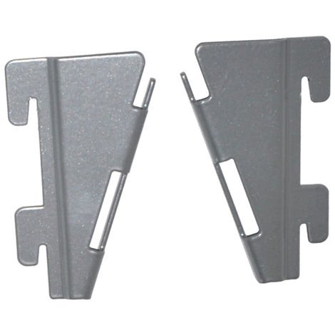 Element System Adapter für Faltfachboden 2 Paar weißalu