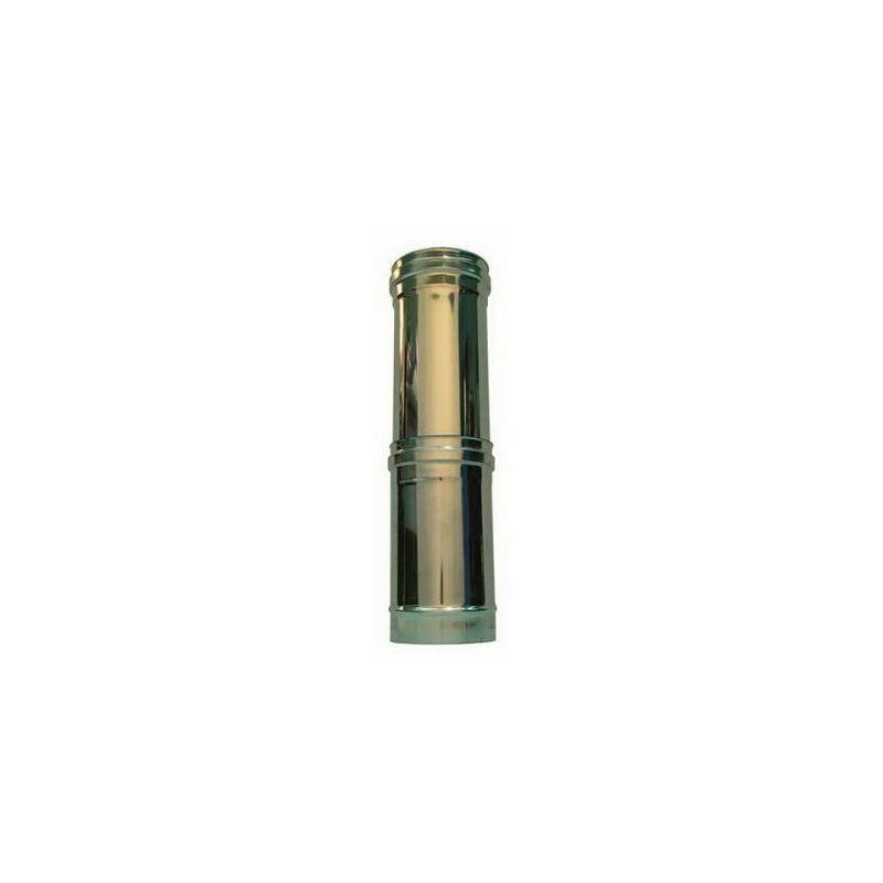 DN 80 Tubo in acciaio inox per canne fumarie L 500mm