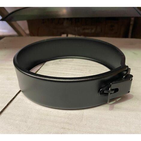Eléments de support et de maintien pour poêle à granulés - PGI pour poêles à Pellets - Collier de jonction - Diamètre 80/130 - Finition : Noir mat