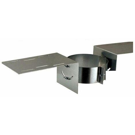 Eléments de support et de maintien pour poêle à granulés - PGI pour poêles à Pellets - Support de toit - Diamètre 80/130 - réf. SAT