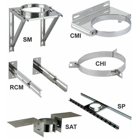 Elements de support et de maintien THERMINOX TI - Collier pour hauban - diamètre intérieur 150 - réf. CHI