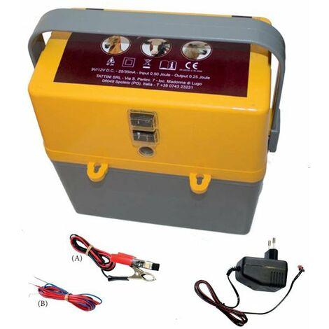Elettrificatore a batteria 9V/12V e corrente 230V per recinzioni fino a 6 km