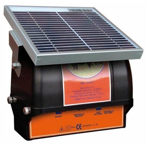 Elettrificatore a pannello solare p s250 con batteria recinti animali pascolo