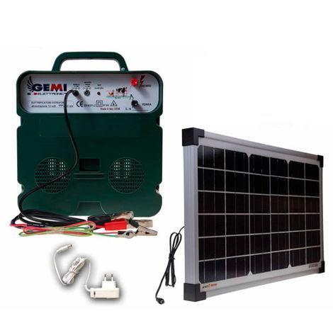 Elettrificatore B/12 Extra Forte A Batteria 12 V Con Pannello Solare Per Recinto Elettrico Recinzione Elettrica Recinzione Elettrificata Per Animali Cavalli Cani Cinghiali Mucche Maiali Galline