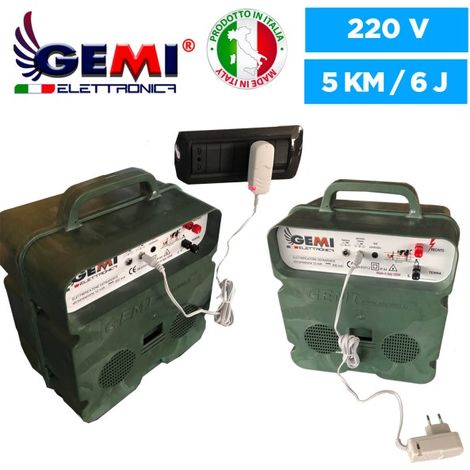Elettrificatore B/12 Extra Forte A Batteria 12 V Per Recinto Elettrico Recinzione Elettrica Recinzione Elettrificata 5 Km Per Animali Cavalli Cani Cinghiali Mucche Maiali Galline