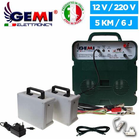 Elettrificatore B/12 Extraforte Kit Completo Batteria 12 V Per Recinto Elettrico Recinzione Elettrica Recinzione Elettrificata 5 Km Per Animali Cavalli Cani Cinghiali Mucche