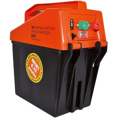 Elettrificatore B35 a batteria 9V o 12V per recinzioni 1 km, cavalli, bovini