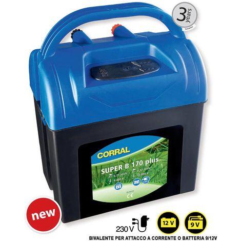Elettrificatore CORRAL SUPER B170 a batteria 9V/12V e corrente 230V fino 3 km Corral