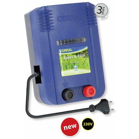 Elettrificatore CORRAL SUPER N1100 a corrente 230V per recinzioni fino a 10km