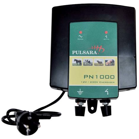 Elettrificatore PN1000 a corrente 230V per recinzioni fino a 2 km per cavalli