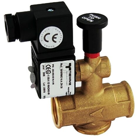 """Elettrovalvola 3/4"""" 220 V a riarmo per gas normalmente aperta TIEMME"""