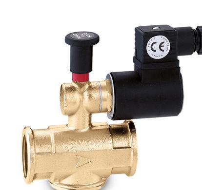 """Elettrovalvola per gas normalmente aperta diametro 1/2"""" max 500 Mbar 230vac. - made in ITALY."""