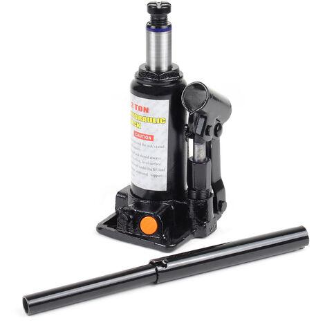 Elevador carga hidráulico Hasta 2T Gato hidráulico vehículos Elevador botella coches Taller mecánico