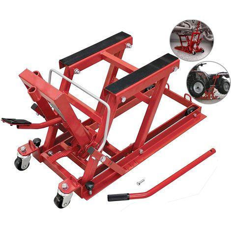Elevador de motos y quads ATV hidraulico, capacidad para 680 kilos