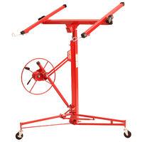 Elevador de placas y paneles XXL (217 - 460 cm Altura de trabajo, 68 kg Capacidad, max. 290 cm Anchura del brazo, regulable en Altura, plegable)