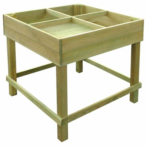 Elevated Planter 80x80x80 cm Impregnated Wood