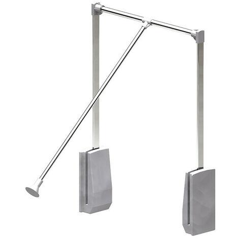 Elévateur de penderie acier - boîtier argent - Largeur 450-600 mm