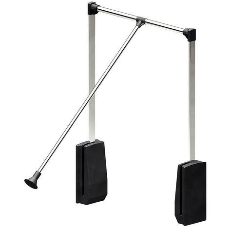Elévateur de penderie acier - boîtier noir - Largeur 450-600 mm