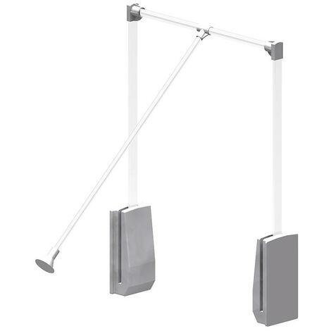 Elévateur de penderie aluminium - boîtier argent - Largeur 450-600 mm