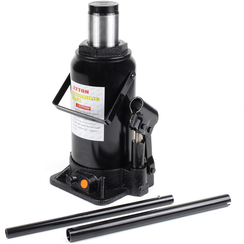 Cric bouteille hydraulique 32T Vérin de levage Voiture Véhicule Outil Garage Auto Chandelle