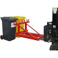 Elévateur pour poubelles - pour 3 poubelles - galvanisé