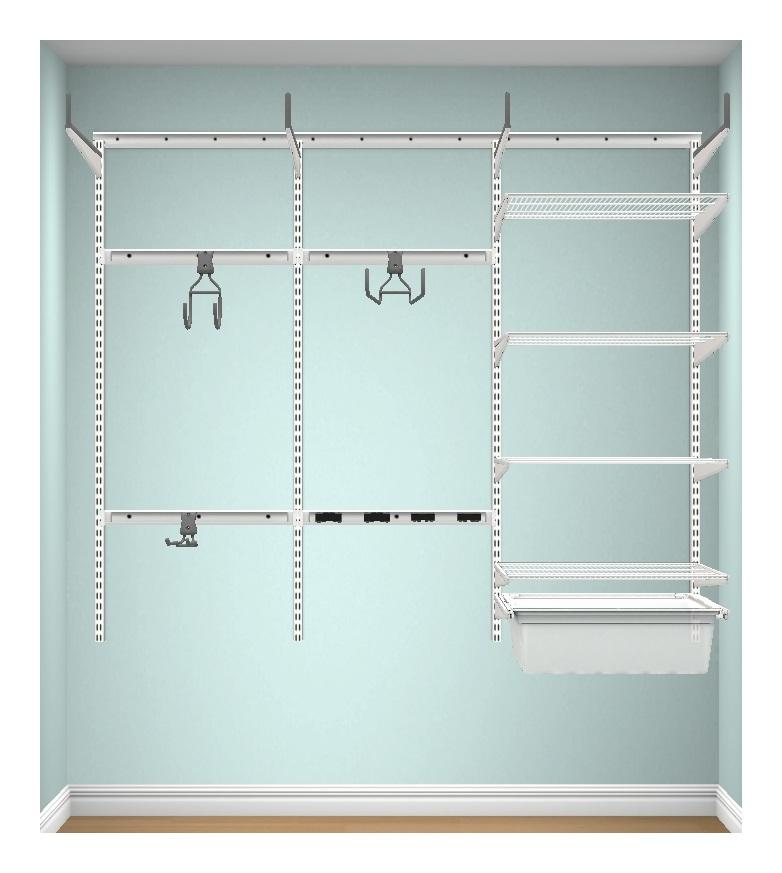 Image of Elfa A Place For Everything - Elfa Garage Starter Kit 3 - White