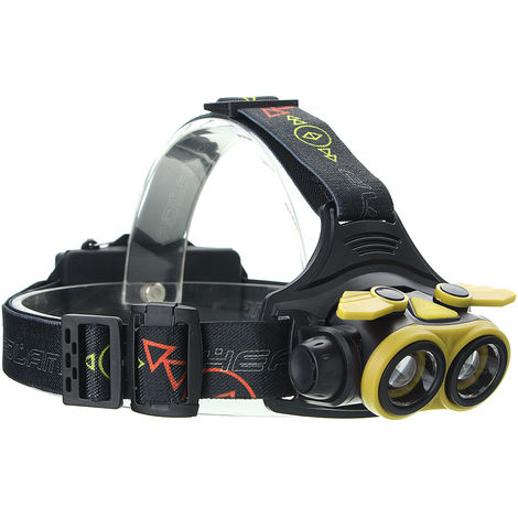 Elfeland Rechargeable Zoomable Torch Headlamp 20000Lm 2x T6 with USB Cable
