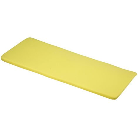 Elfin Yellow 3 Seater Bench Cushions 141x48x4cm Outdoor Garden Furniture Cushion