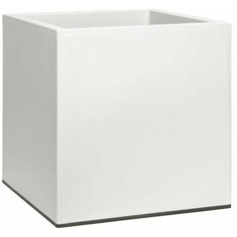 ELHO Jardiniere a roulettes Vivo 40 - Finition mate - Blanc - Intérieur & extérieur - L 39 x W 39 x H 41 cm
