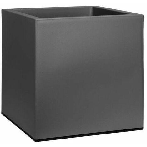 ELHO Jardiniere a roulettes Vivo 40 - Finition mate - Vivre noir - Intérieur & extérieur - L 39 x W 39 x H 41 cm