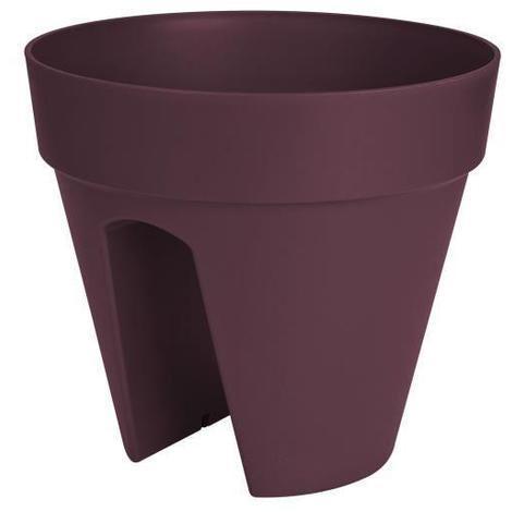 ELHO Pot de fleurs Loft Urban - 30 cm - Violet mûre