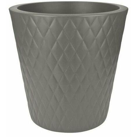 ELHO Pot de fleurs Pure Straight Crystal - 47 cm - Gris ciment