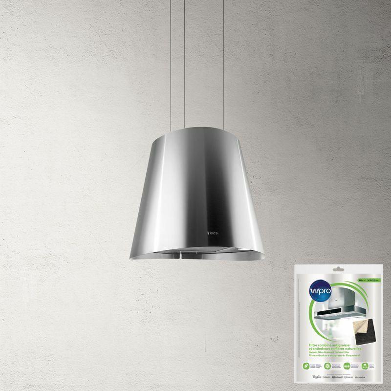 Hotte décorative centrale ilôt aspirante inox Diamètre 50cm Débit d'air 603m3/h - Inox - Elica