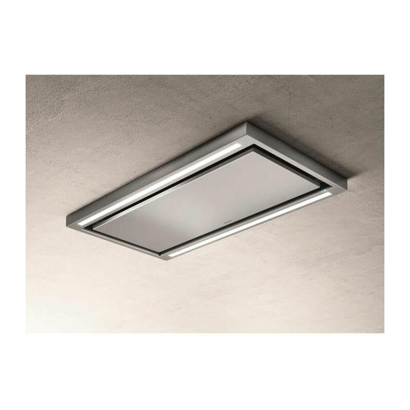 PRF0142094 - Hotte de plafond Cloud seven IX / A / 90 - Extraction ou filtr - 760 m³ air / h max - 3 vitesses - L 90 cm - Inox - Elica