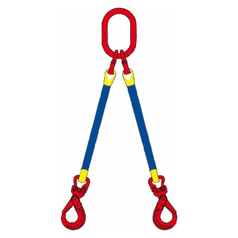 Banyo - Elingue cable 2 brins, 2,1t, 45° avec mousqueton, 2m